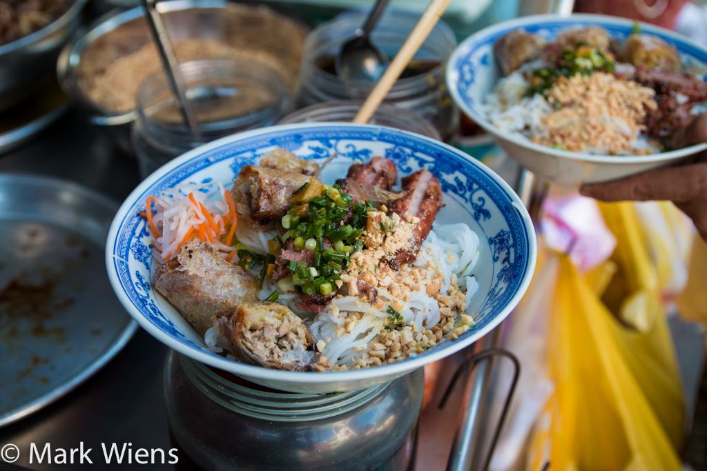 Vietnamese bun thit nuong cha gio