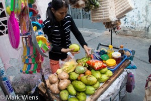 Buying a mango in Saigon