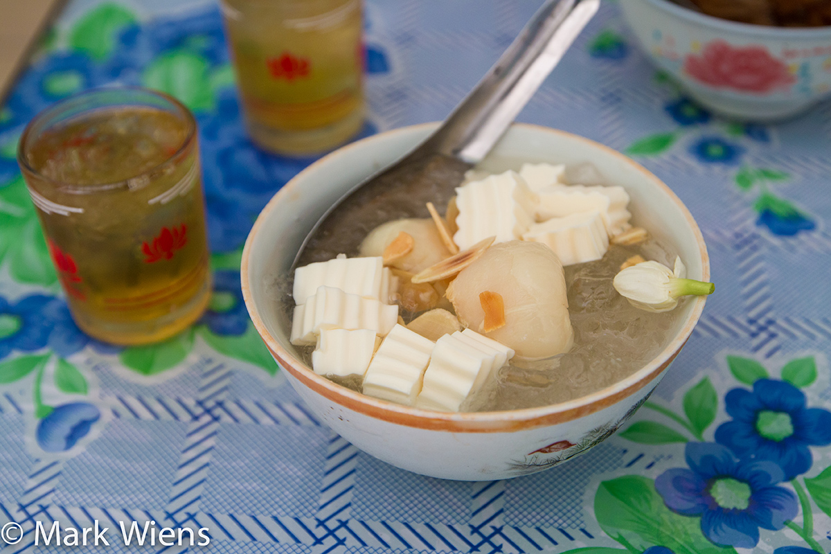 Vietnamese Desserts in Saigon - Almond Panna Cotta Jelly