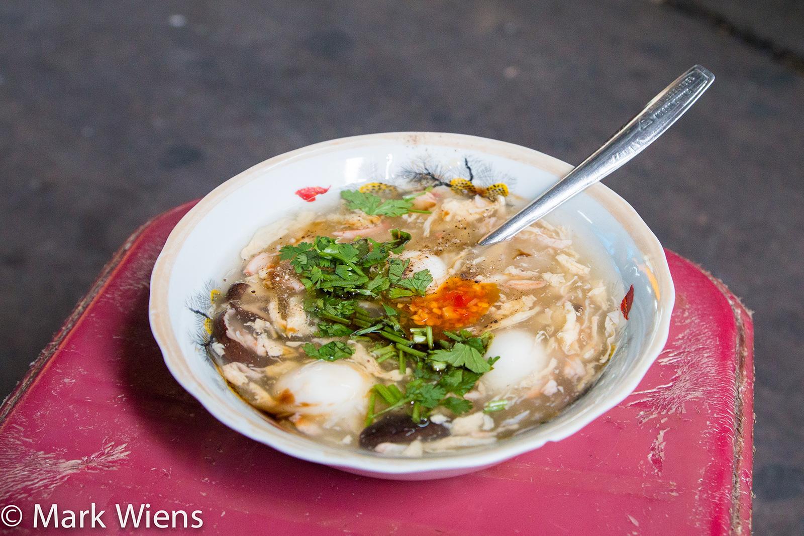 Eating Vietnamese Crab Soup in a Saigon Alley