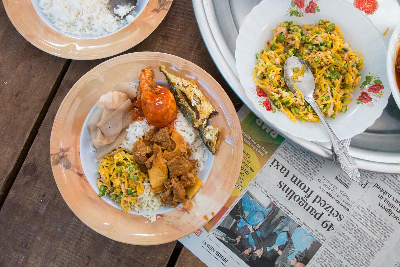 Malaysian wedding food