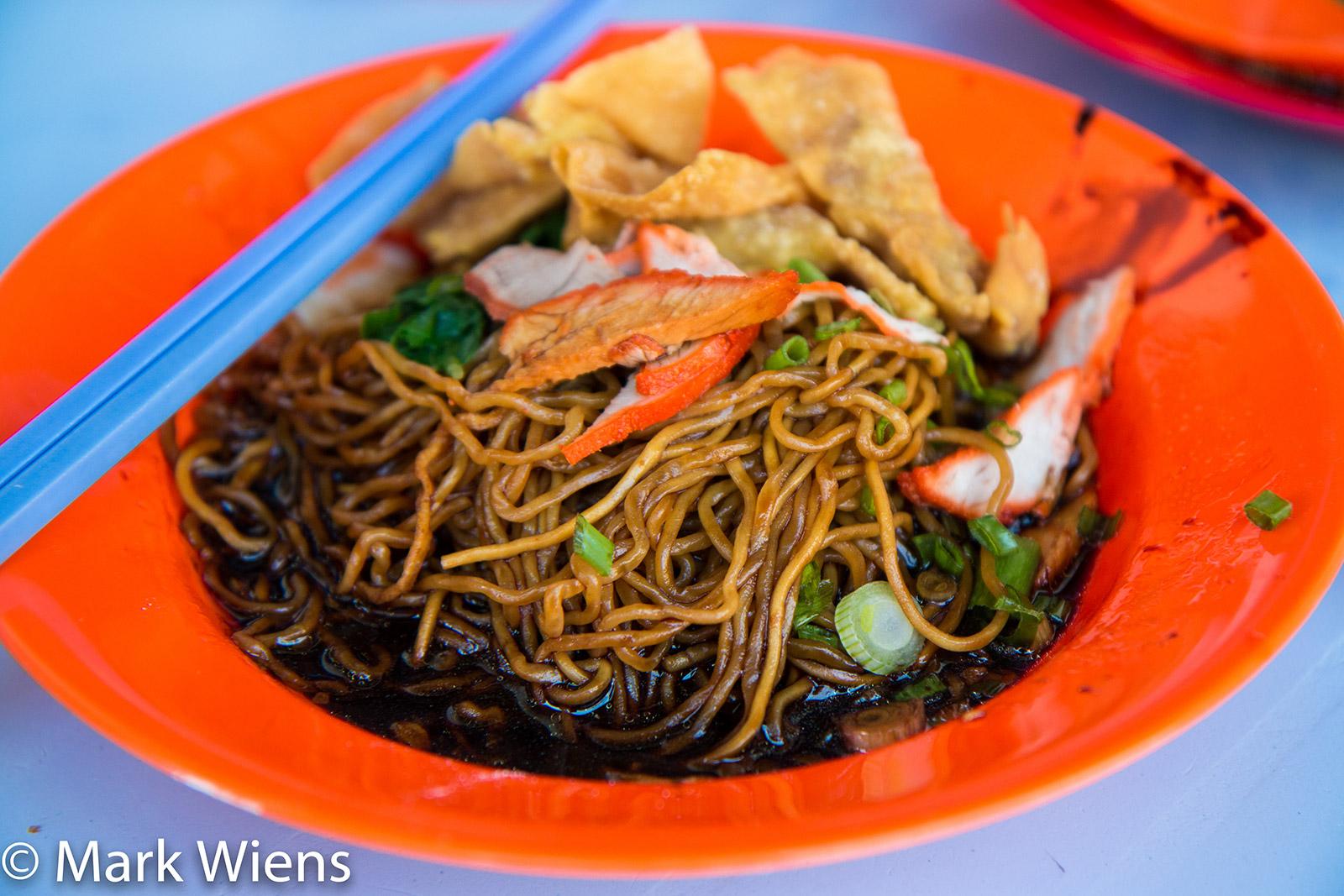 Wantan mee at Lebuh Acheh Wantan Mee, Penang, Malaysia