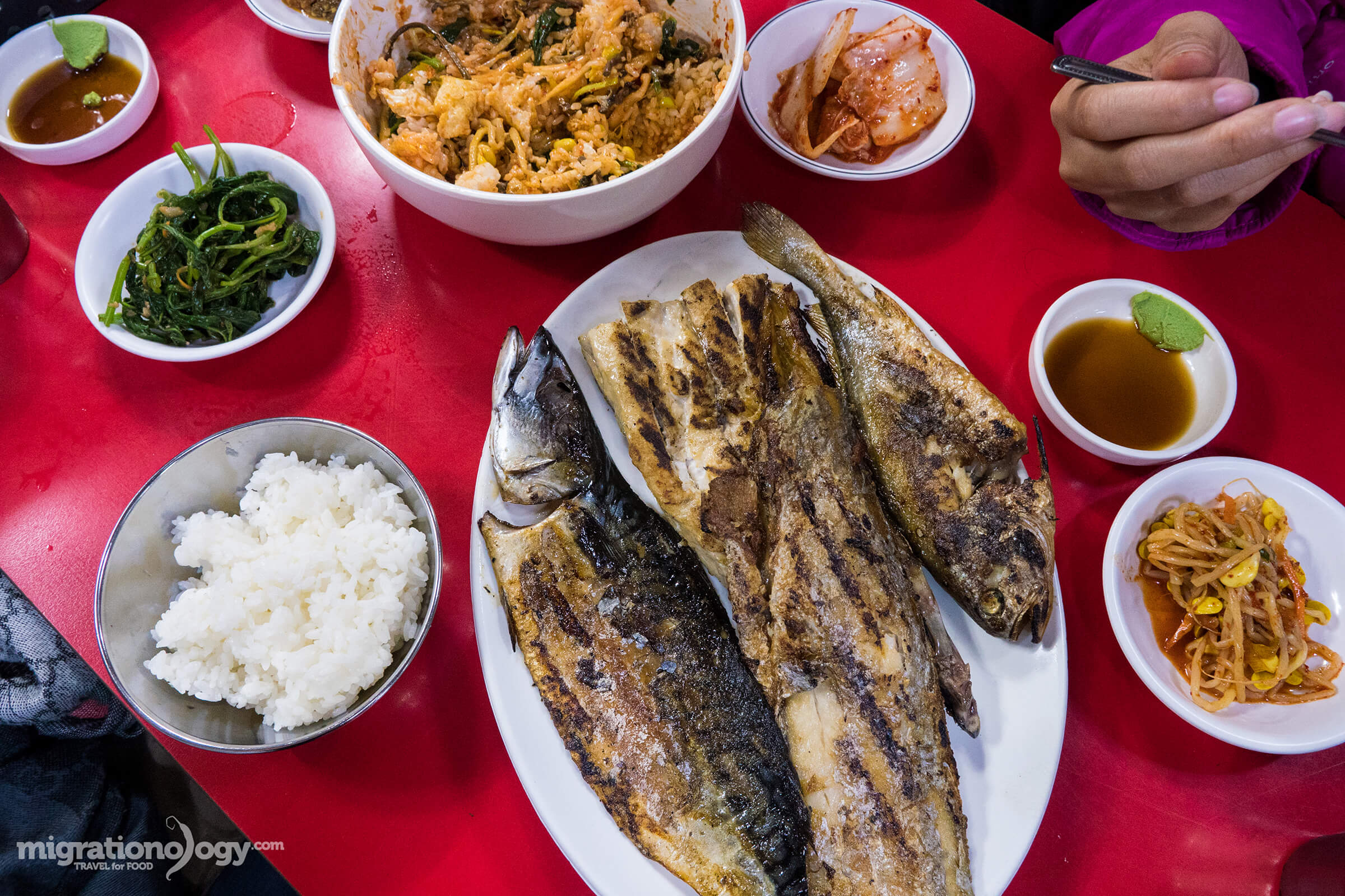 Seoul travel guide for food lovers by mark wiens delicious meal at seouls dongdaemun grilled fish street forumfinder Choice Image