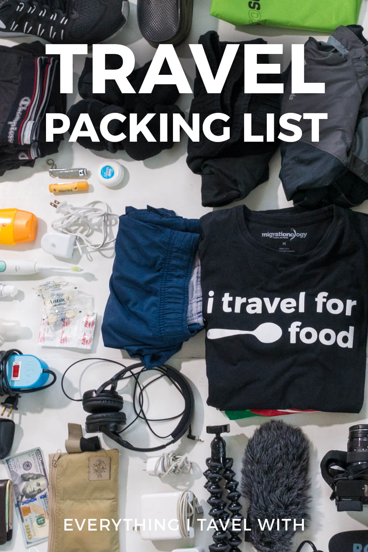 packing list for travel