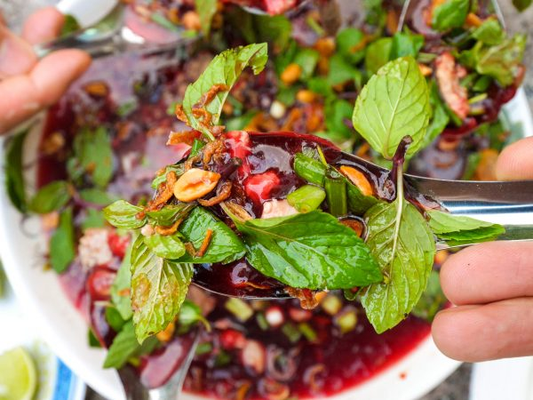 Sri lankan food 40 of the islands best dishes in laos raw duck blood salad brings people together forumfinder Choice Image