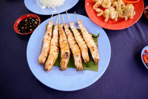Amazing grilled seafood local Malay style in Melaka, Malaysia