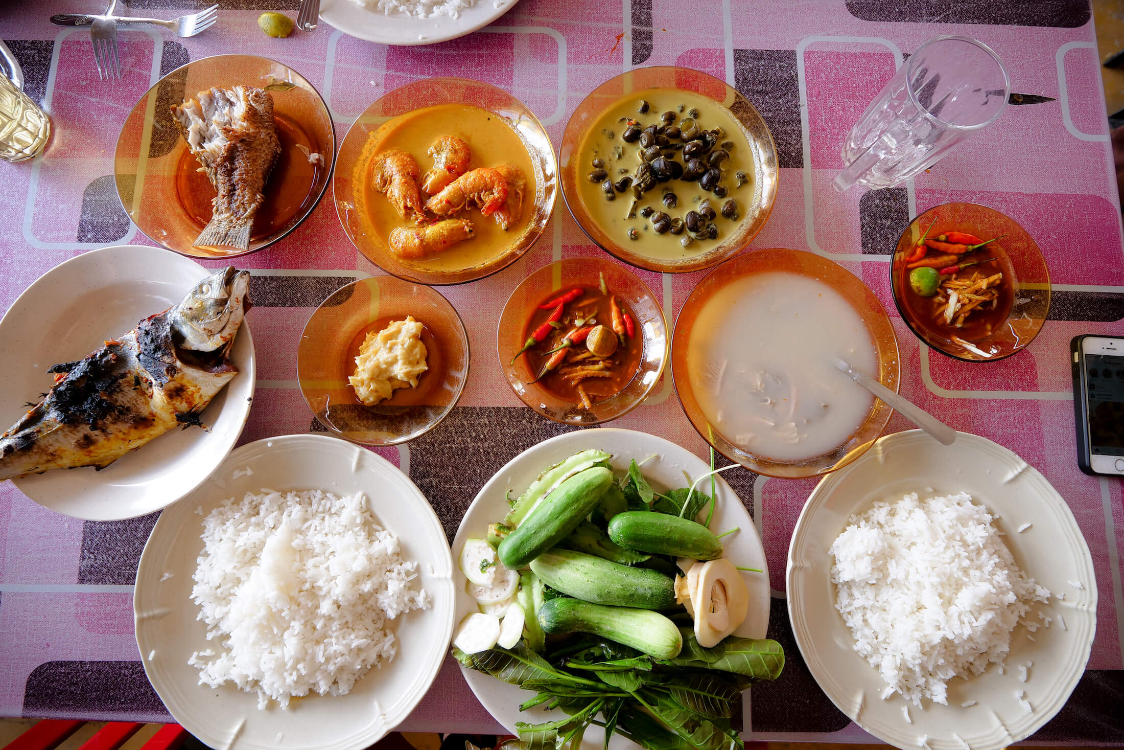 Nasi Ulam is a meal of rice with fresh vegetables, but there are so many side dishes available at D'Umi Nasi Ulam that you may need to clear your schedule for an entire day when you visit
