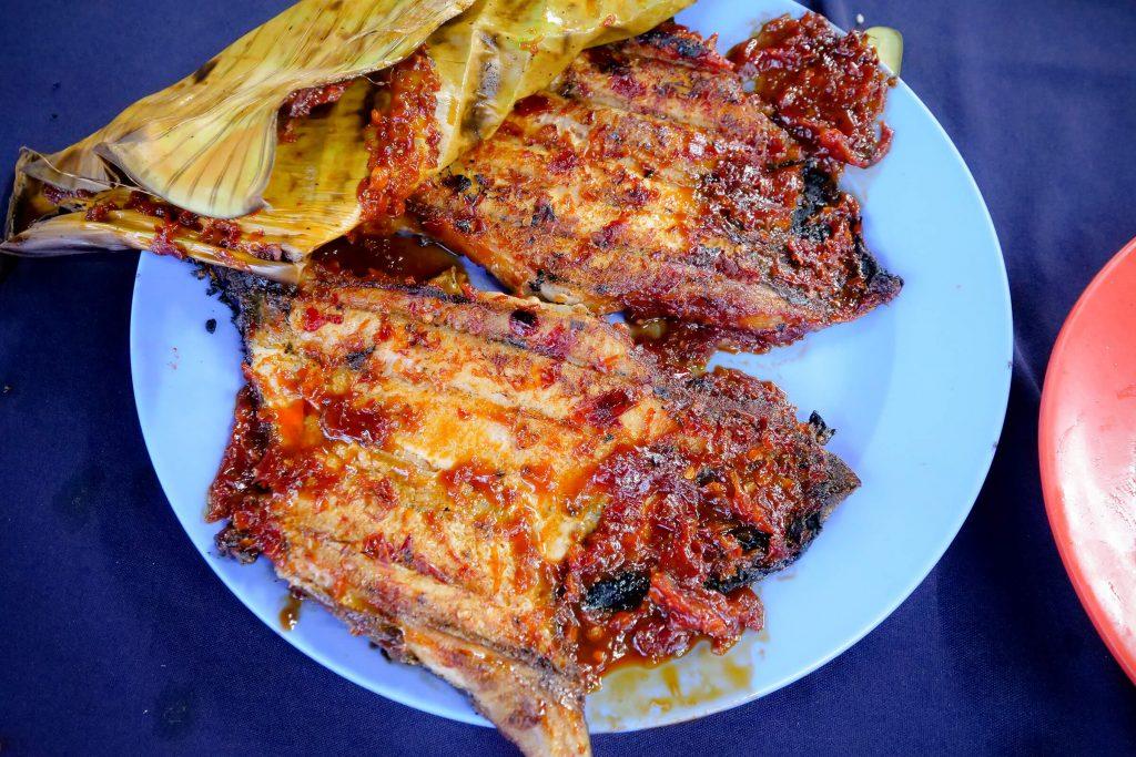 Ikan Bakar (Grilled Fish) at Best Seafood Restaurant in Melaka, Malaysia