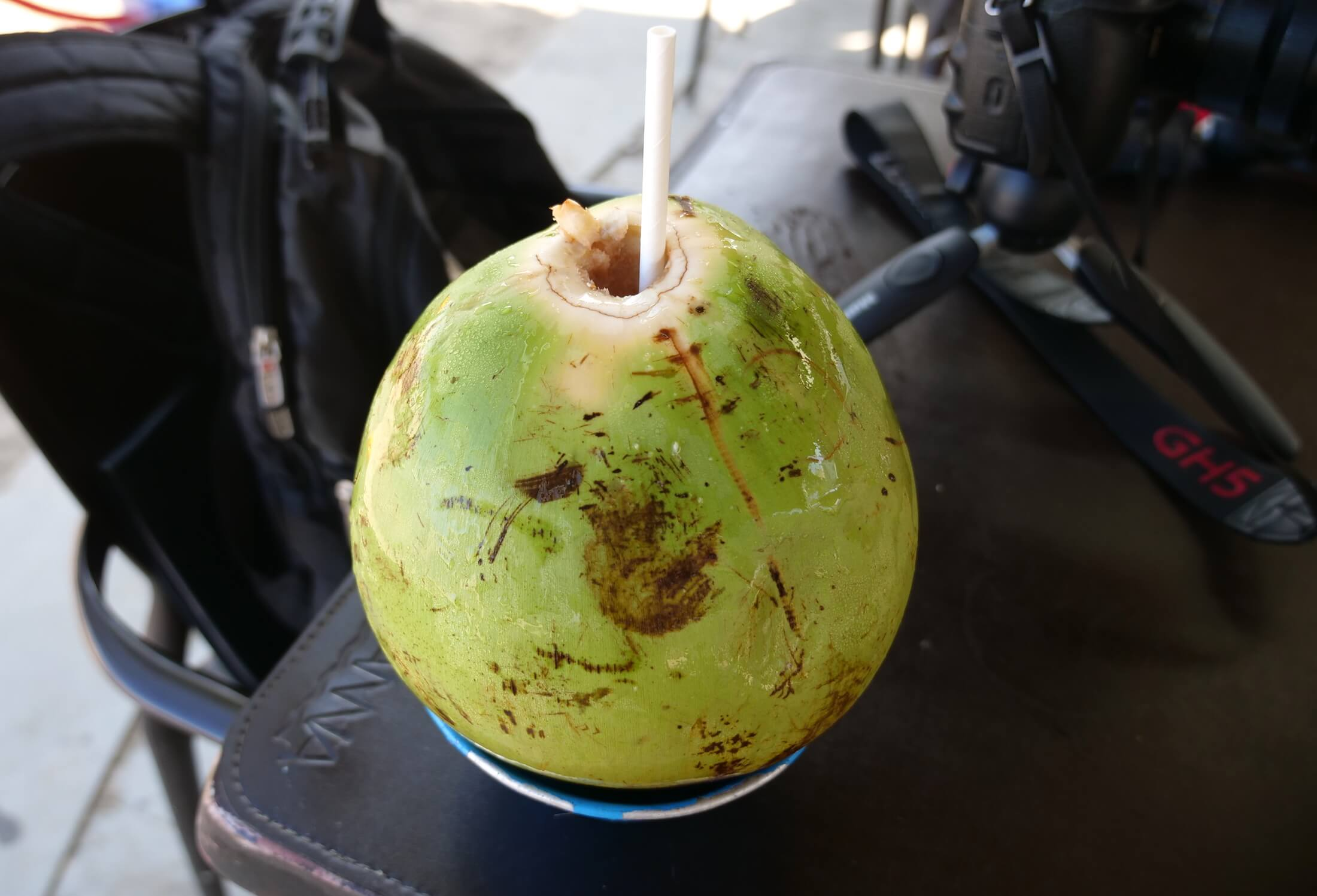 There is no better way to stay hydrated than with coconut water, and these usually cost about 6 or 7 reais on Ipanema beach