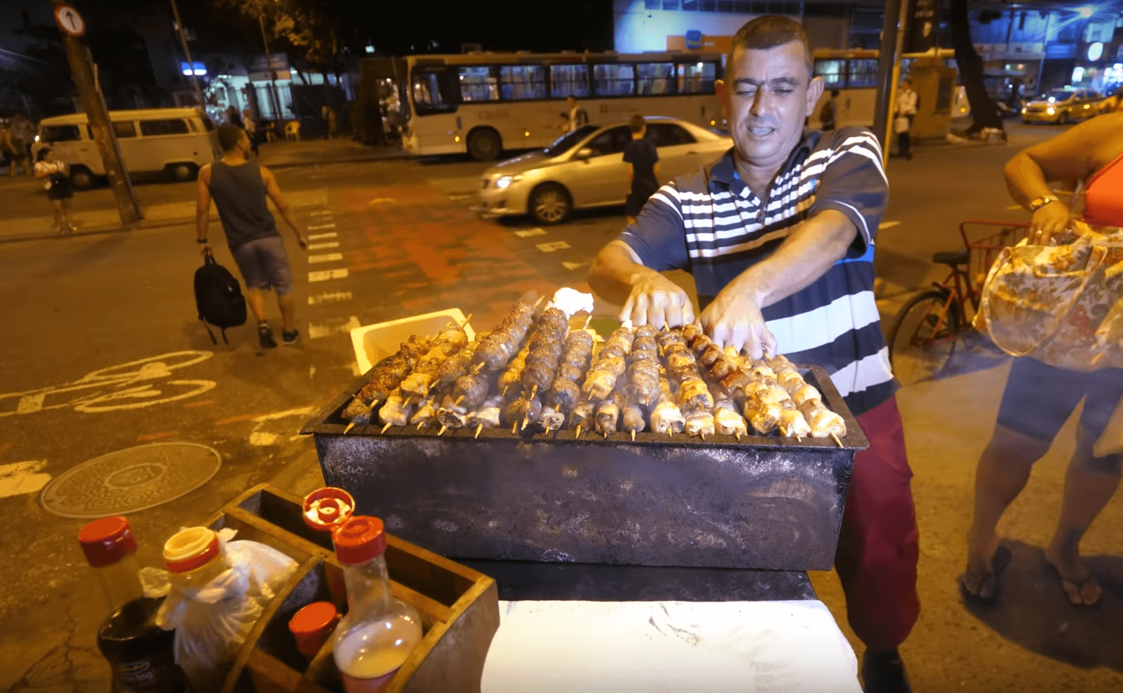 This man will make you smile first, and make your mouth water second, you have to try his delicious and meaty kebabs