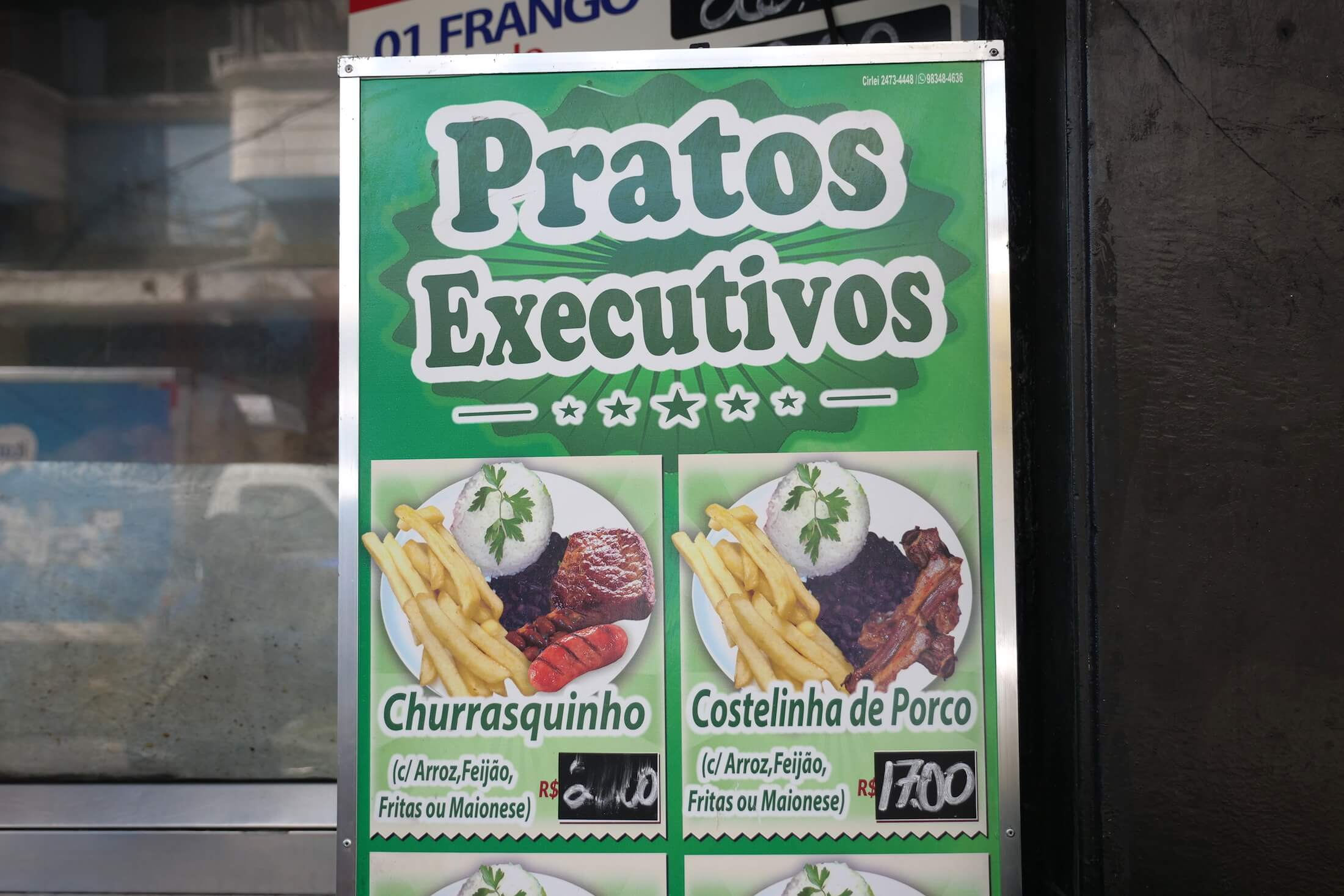 Get a little taste of each of their star menu items by choosing from this set combo menu, Pratos Executivos