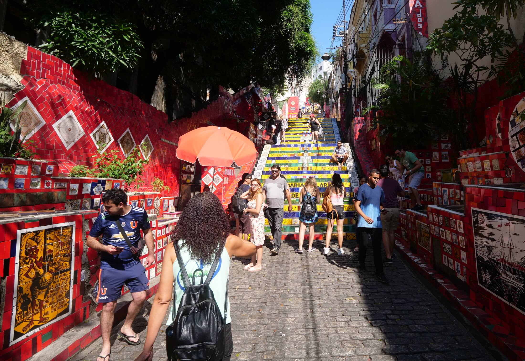 Worth a visit to the Escadaria Selaron, the Selaron Steps are beautiful.