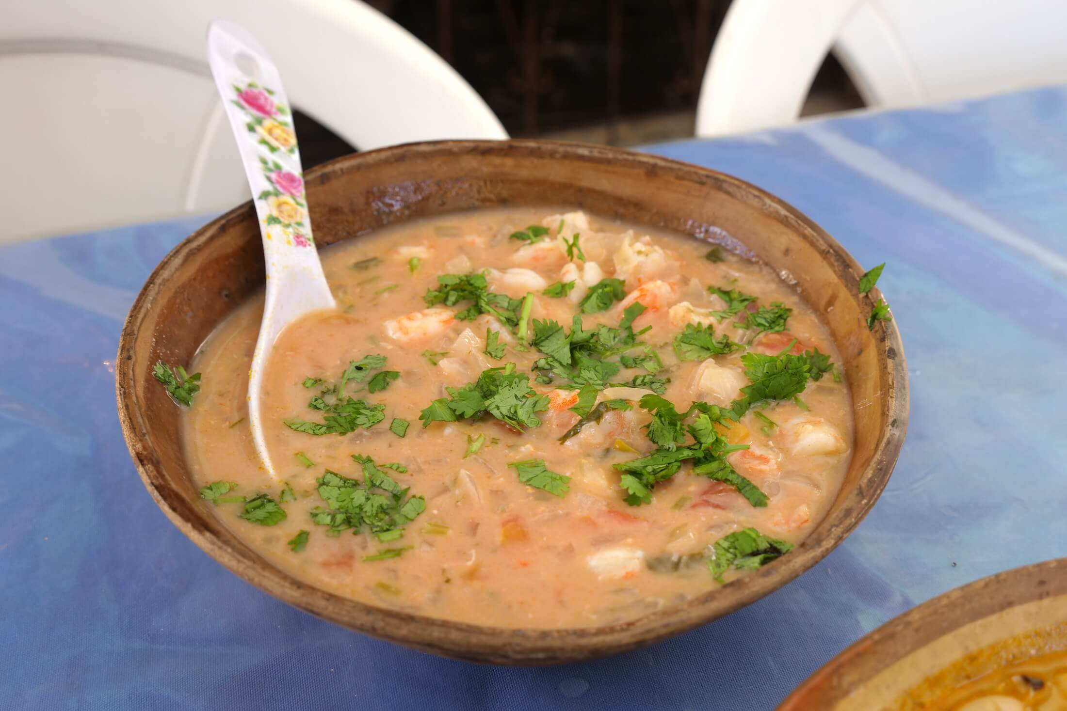 Bahia uses a lot of seafood in their recipes, and its wonderful to have it so fresh