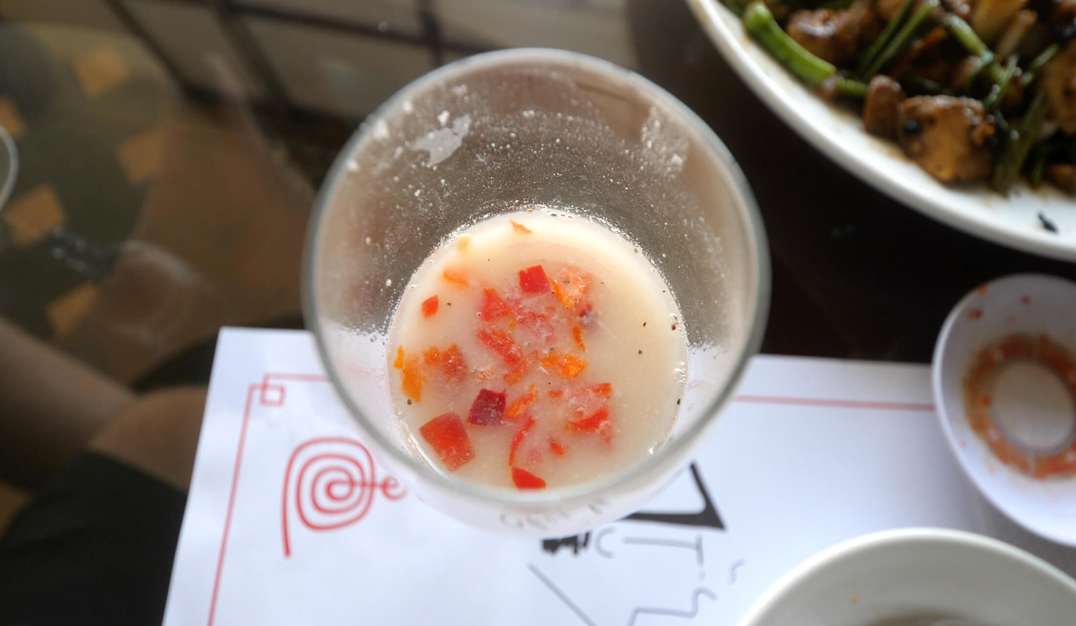 Hey local favorite, this is tigers milk, something to sip on after you are finished with your ceviche