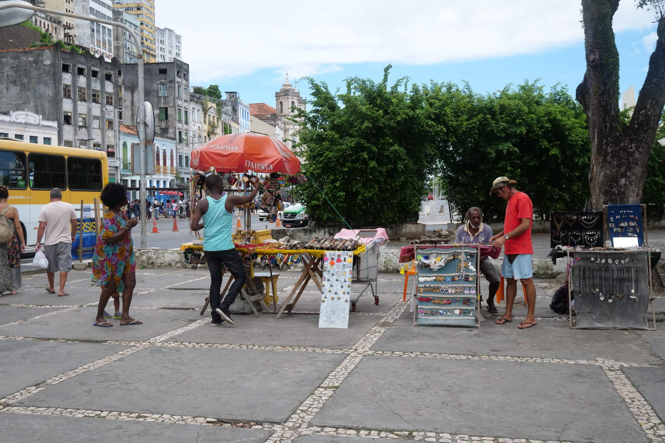You can stop here to buy water, or buy souvenirs, before entering the market