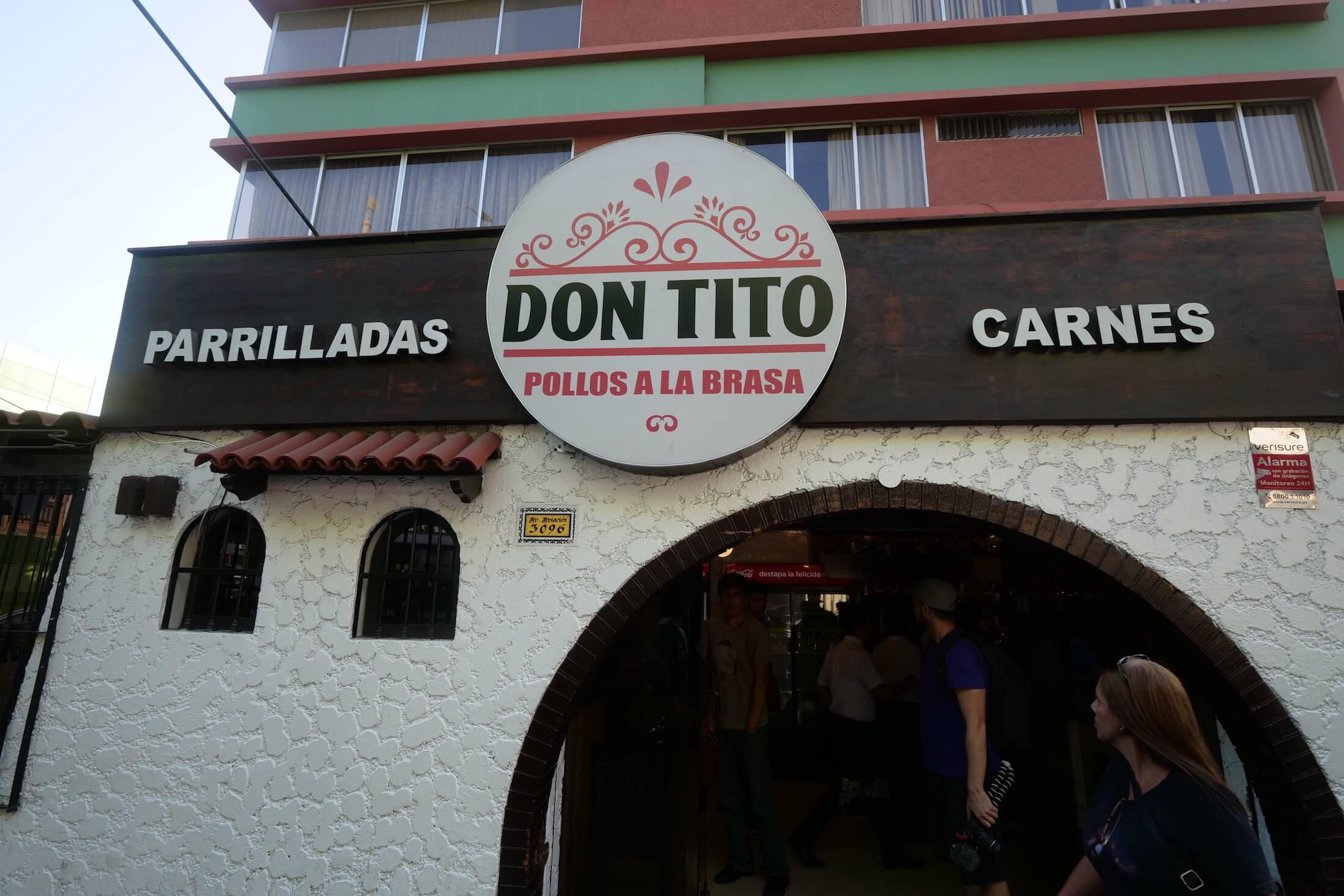 Don Tito's Pollos a la Brasa restaurant front view