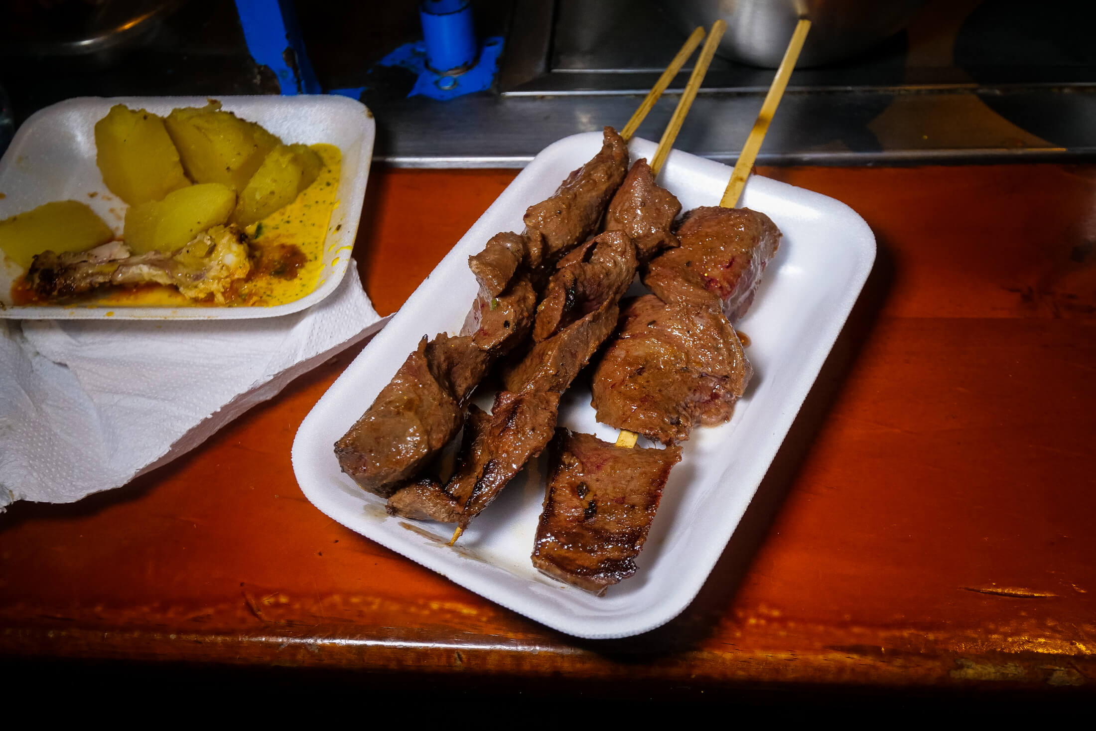 delicious bites of beef in Anticuchos.