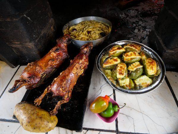 Cuy Guinea Pig Baking at Cuyeria Mónica, in Tipon, Peru