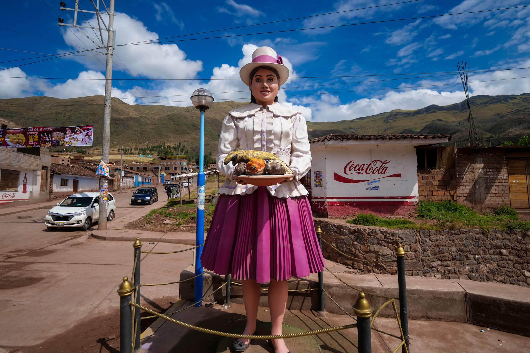 Tipón has this statue to welcome you, in hopes that you'll enjoy the Cuy al Horno its so famous for...