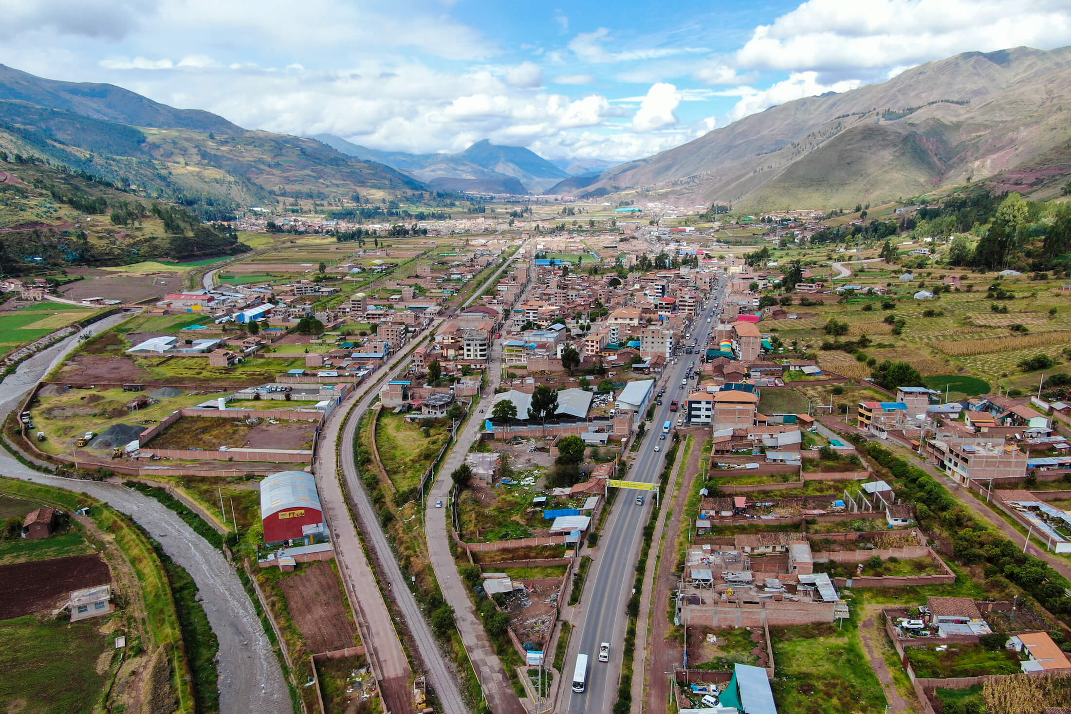 An aerial view of Tipón, about 25km from Cusco, Peru