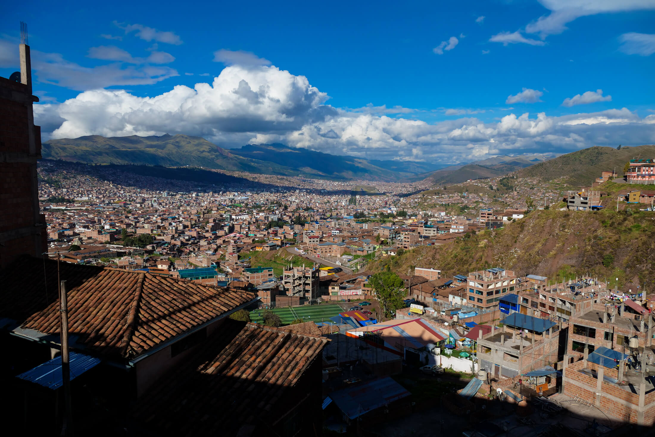 Cusco is a large city in South Eastern Peru