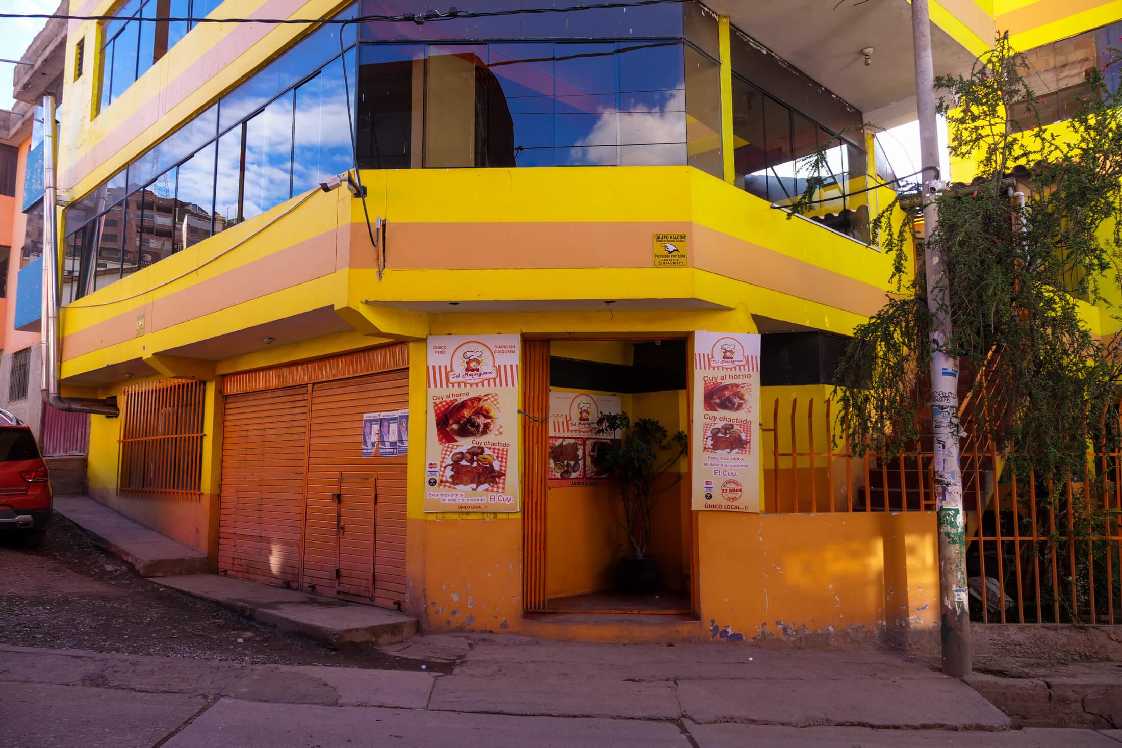 'Cuyeria Sol Moqueguano' (an amazing restarant back in Cusco)