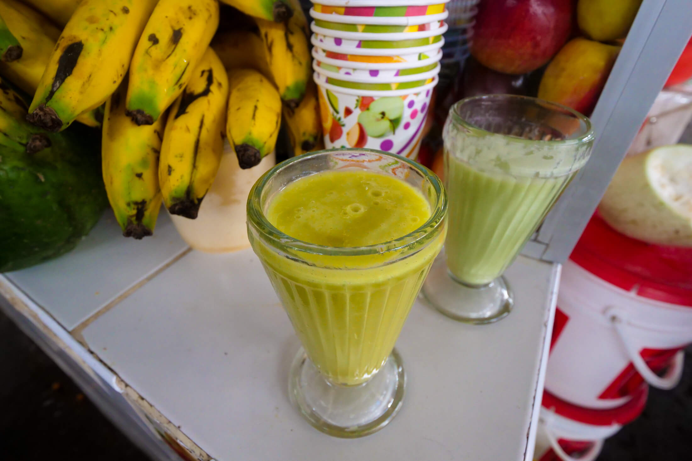Avocado and Mango shake at the San Pedro Market in Cusco