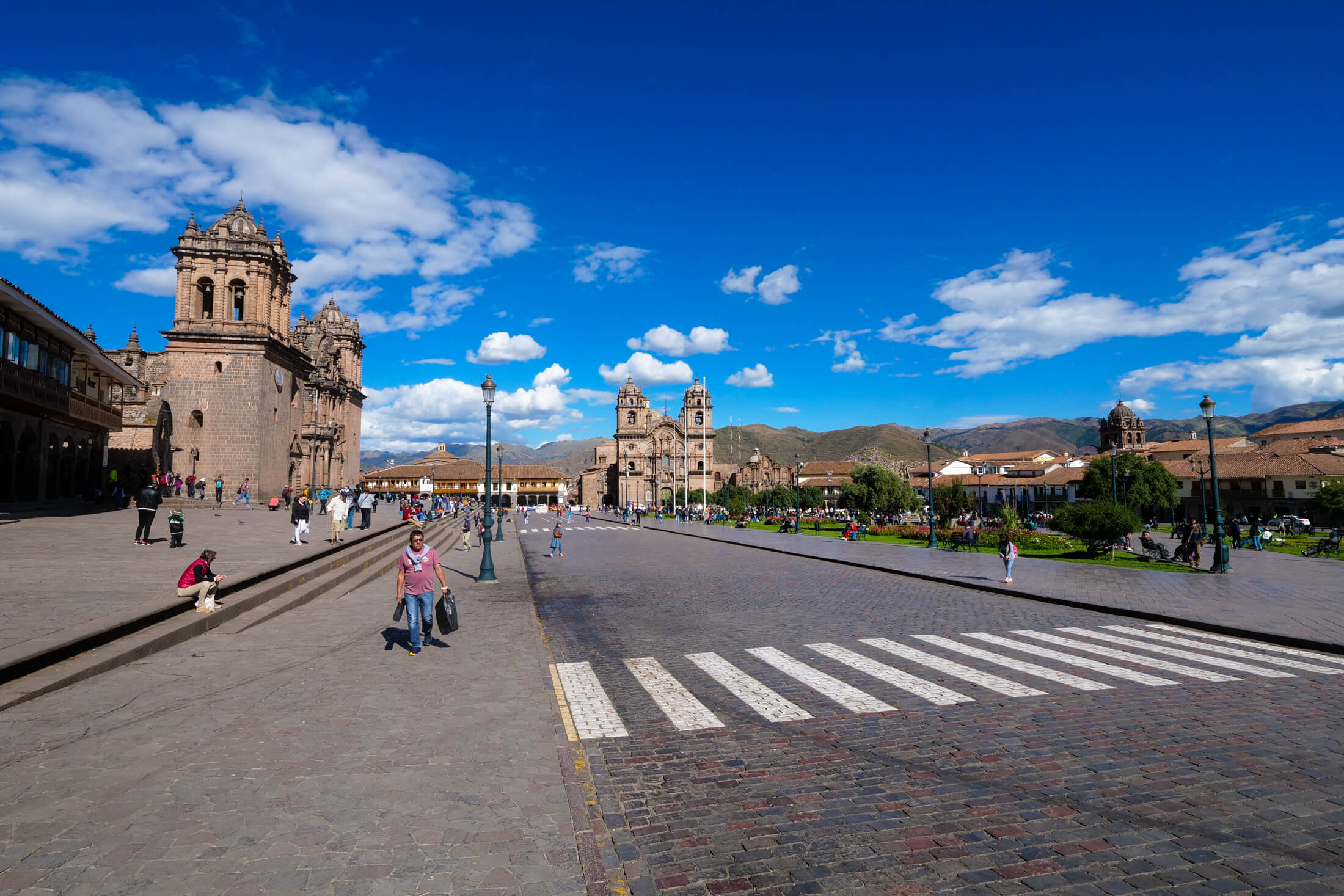 Plaza de Armas is a huge square in the Historic area of Cusco