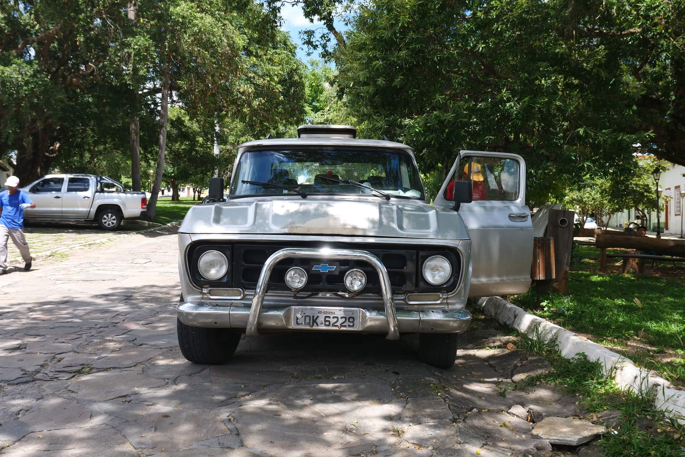 Classic cars are common in old Goiás