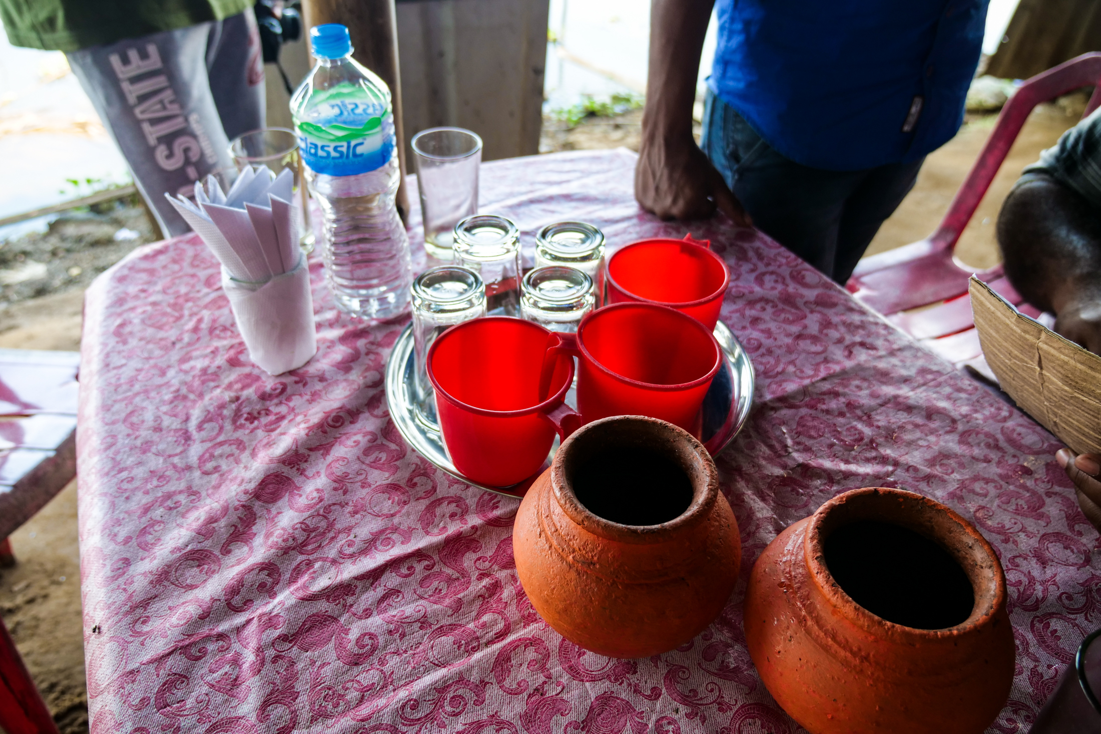 Coconut Toddy requires high levels of cleanliness and hygiene to ensure its not contaminated before drinking