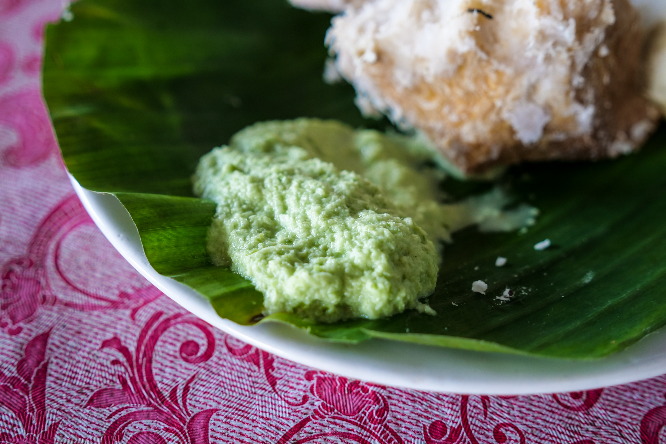 fresh coconut chutney which comes with every meal of spicy Toddy Shop food